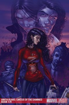 Anita from Anita Blake, Vampire Hunter by Laurell K. Hamilton - I want that T-shirt!