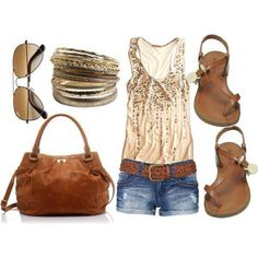 #fashion #outfit with shorts,singlet and flat sandals