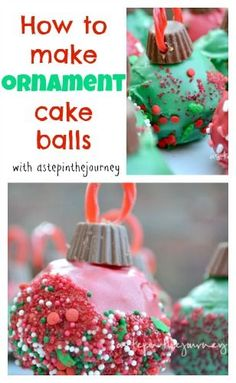 How to make ornament cake balls (including a cake pop tutorial). These will be a hit at your Christmas Cookie Swap!