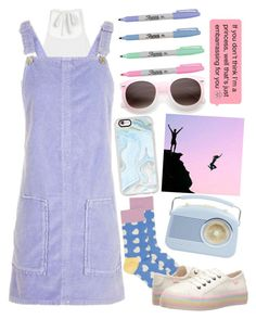 """""""Pastel paradise"""" by darling-ange1 ❤ liked on Polyvore featuring Monki, Topshop, Happy Socks, Rocket Dog and Casetify"""