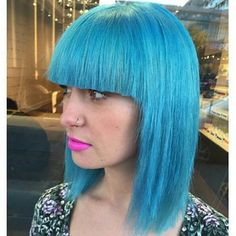 No,  it's not a wig. Just another ridiculous colour by @sstefstyles of #spacesalon!  ##VancouverHairAcademy #productforhair #americansalon #newhairtrends #olaplex #model #haircolor #hairdye #hairbrained #bluehair #rainbowhair #unicornhair #model #vancouverhair #michaellevinesalons #caramelsalon Hair Academy, New Hair Trends, Hair Brained, Unicorn Hair, Rainbow Hair, Blue Hair, Haircolor, Dyed Hair, Salons