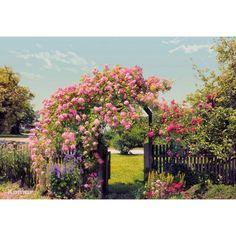 Komar 100 in. x 145 in. Rose Garden Wall Mural-8-936 - The Home Depot
