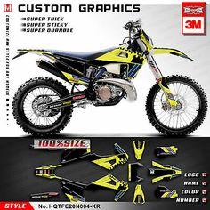Name Dirt Bike Number Stickers MX Motocross Decals Set ATV Trial YZ RM KX SX CRF