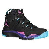 Jordan Super.Fly II - Boys' Grade School - Black / Purple