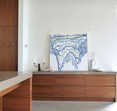 """""""Oceane"""" from the Cascade Collection by Sann Sann Lam Fine Art, Cabinet, Storage, Painting, Furniture, Collection, Home Decor, Jelly Cupboard, Purse Storage"""