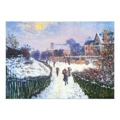 Boulevard St Denis Argenteuil Snow Effect Claude Monet art for sale at Toperfect gallery. Buy the Boulevard St Denis Argenteuil Snow Effect Claude Monet oil painting in Factory Price. Pierre Auguste Renoir, Claude Monet, Monet Paintings, Landscape Paintings, Landscape Art, Charles Gleyre, Oil On Canvas, Canvas Wall Art, Large Canvas