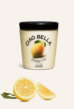 Cia Bella Gelato + Sorbet Sicilian Limone Sicilian lemon is stronger, and more powerful, than your average lemon, tempting your senses with an invigorating punch of citrus.