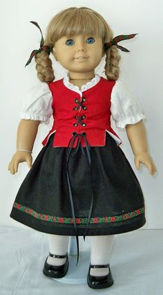 German style outfit for American Girl Doll von GreenAcresDollCloth