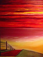 Abstract Art - Midnight Sunset by Frank B Shaner