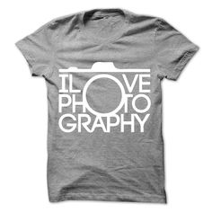 I Love Photography T Shirt & Hoodie Being a photographer is seriously awesome! Capturing beauty, events, emotions, places, or people with creativity and ingenuity. Wear this awesome shirt and express your love of photography! Perfect as gifts for your colleagues, classmates, family mem. >>> http://www.sunfrogshirts.com/I-Love-Photography-29461526-Guys.html?id=28528