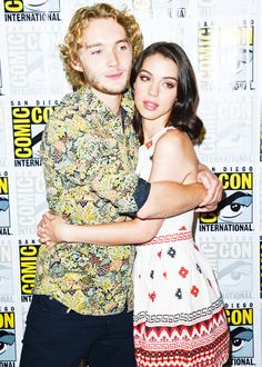 Toby Regbo and Adelaide Kane attends San Diego Comic-Con2014 on July 24, 2014
