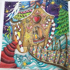 The Magical Christmas by Lizzie Mary Cullen #themagicalchristmas #prismacoloredpencils #prismacolorpencils #prismacolor #inktense #inktensepencils #marcorenoir #marcorenoircoloredpencils #marcorenoirpencils #artwork #lovetocolor