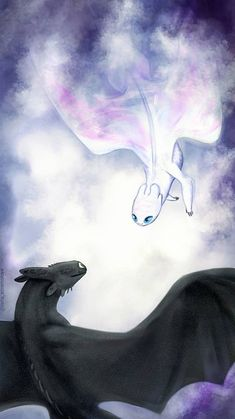 Toothless and Light Fury flying together in the sky Zahnlos und zornig fliegen zusammen in den Himmel Source by . Toothless And Stitch, Toothless Dragon, Httyd Dragons, Cool Dragons, Croque Mou, Night Fury Dragon, Disney Phone Wallpaper, How To Train Dragon, Dragon Trainer