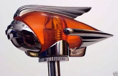 The Art Deco Era: Cars of the 1940's | Art Deco Chrome Fender Guides - LED Amber - PAIR I actually have a red one of these on the top of the antenna on my mini cooper!