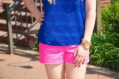 Navy and pink sheerneon.com