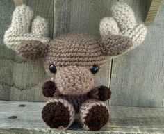 Crocheted Moose - stuffed toy animal - amigurumi - FREE SHIPPING!! - from Theresa's Crochet Shop on etsy.com