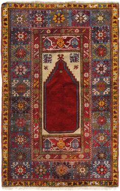 Lot 514. Anatolian Kirshehir rug circa 1920. Schuler auction including antique and semi-antique rugs and carpets 18 June 2014