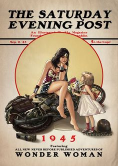 DC Comics Heroes & Villains Drawn in the Style of Norman Rockwell's Iconic Covers From 'The Saturday Evening Post' Laughing Squid Tumblr