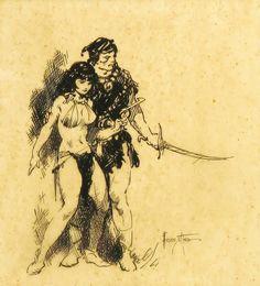 'Warrior of Llarn' by Frank Frazetta