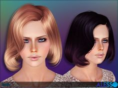 Hair bob inspired in Lady Gaga  Found in TSR Category 'Female Sims 3 Hairstyles'