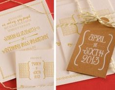 Custom Invitation |White + Brown | Available at Poeme