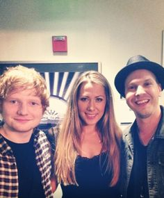 Ed, Colbie, Gavin - awesome talent!