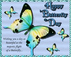 Celebrate Butterfly Day with someone special by sending this sweet card. Free online Wishing You A Lovely Day ecards on Butterfly Day Butterfly Quotes, Butterfly Cards, Romantic Messages, Day Wishes, Name Cards, Beautiful Butterflies, Card Sizes, Beautiful Day, Told You So