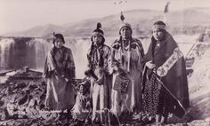 Celilo women standing before the falls. Photo courtesy of the Columbia Gorge Discovery Center.  Wyam of N'ch-iwana, or Celilo Falls, on the Columbia River — the center of a vast salmon-based fishing and trading economy and the nucleus of many sacred sites, petroglyphs and burial grounds. Celilo Falls was a natural wonder, by volume the largest waterfall in North America and the sixth largest in the world.
