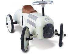 Kovové odrážedla pro děti od dvou let ve stylu retro udělá dětem velkou radost. Volant s kolečky je otočný, délka 76 cm
