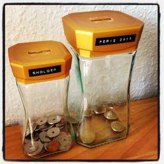 Smarte penge/opsparinsbøsser. Popcorn Maker, Upcycling, Diys, Creative, Bricolage, Do It Yourself, Diy, Upcycle