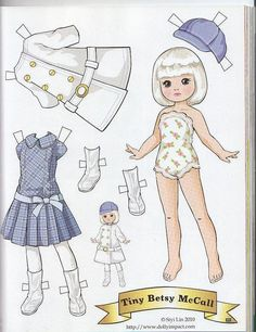 Tiny Betsy McCall paper doll by Siyi Lin | Flickr - Photo Sharing!