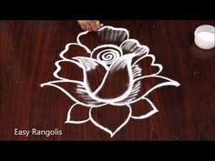 Rangoli Side Designs, Best Rangoli Design, Simple Rangoli Designs Images, Rangoli Borders, Free Hand Rangoli Design, Rangoli Patterns, Small Rangoli Design, Rangoli Designs With Dots, Beautiful Rangoli Designs