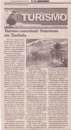 Vasculhando o Nordeste: Naturismo em Tambaba, Paraíba – Publicado em 09 de novembro de 2006