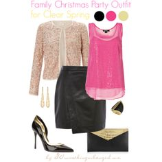 Family Christmas Party Outfit/Holiday look for Clear Spring by thirtysomethingurbangirl on Polyvore | #party #PartyWear #Howtostyle #Christmas #ClearSpring #SpringWinter #holiday #holidaylook