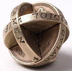 Robert Wechsler - interpenetrated coin art