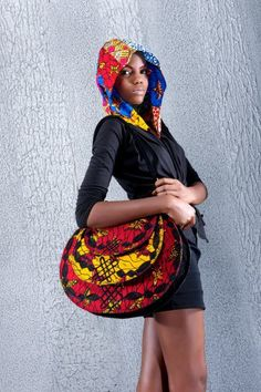 Love this African Print Hoodie! And the bag too! #africa #africanfashion #prints