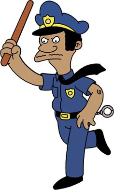 The Simpsons -Lou, officer in the Springfield police department