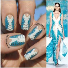 Fashion inspired nail art