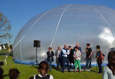 Inauguration de La bulle d'Air, Pont l'Abbé le 16 Mai. Photo : Yves Ducret Architecture Unique, Bulle D Air, Mai, Photos, Bubbles, Dance Floors, Brittany, Pictures