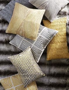 beaded horseradish yellow pillows http://rstyle.me/n/q587dr9te