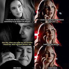 "#TVD 8x16 ""I Was Feeling Epic"" - ""He got her message"" - #ElenaGilbert #StefanSalvatore #CarolineForbes"