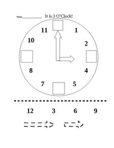 This worksheet asks students to write the time shown on analog ...