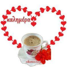 Beautiful Pink Roses, Good Morning, Tea Cups, Greek, Bom Dia, Buen Dia, Bonjour, Teacup, Buongiorno