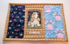 Quilted Snack Mat   Bassett Hound Paws by PatsysPatchwork on Etsy, $12.50