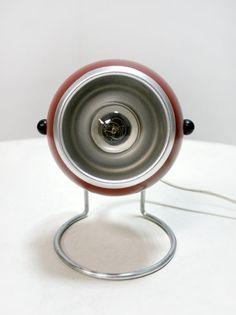 Vintage West German Deep Red Eyeball Hairpin Desk by WestEstShop