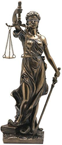 8.13 Inch La Justicia Blinded Women Cold Cast Bronze Figurine Lady Justice  Statue 1a4fba6d65