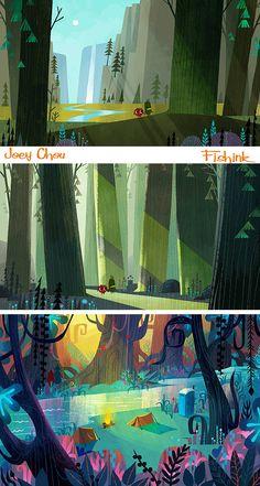 Joey Chou Mid century inspired Artist and Illustrator |