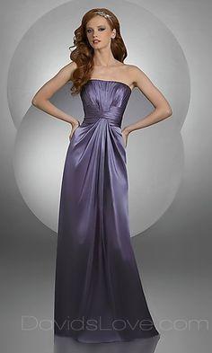 A-Line Tube Long Silk like Dress