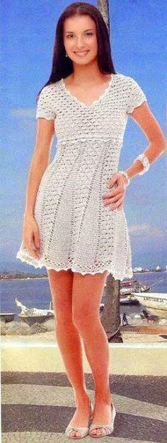 l'espace lilas: Envie d'une robe crochet? Les modèles et les modèles Web.