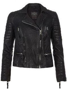 31f20a52ed82 AllSaints Pitch Leather Biker Jacket - ShopStyle